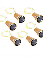 cheap -10pcs 6pcs 2pcs 20LED Garland Solar Wine Bottle Lights 2m Solar Cork Fairy Lights Christmas Light Copper Garland Wire String