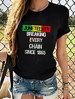 cheap -Women's T-shirt Plus Size Graphic 3D Print Tops - Print Round Neck Loose Basic Daily Spring Summer Rainbow XS S M L XL 2XL 3XL 4XL 5XL 6XL / Going out