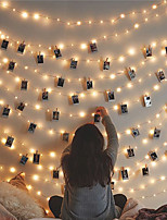cheap -3M 20LEDs Photo Clip LED String Lights USB Powered Fairy Lights Garland Christmas Birthday Party Wedding Party Valentine's Day Decoration