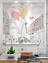 cheap -Custom Self-adhesive Mural Wallpaper Birthday Balloon Suitable for Bedroom Background Wall Coffee Shop Restaurant Hotel Wall Decoration Art   Cartoon