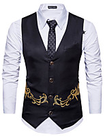 cheap -Gentleman Kingsman Vintage Masquerade Vest Waistcoat Men's Costume Black / Camel / Navy Blue Vintage Cosplay Event / Party Sleeveless