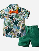 cheap -Kids Toddler Boys' Basic Print Short Sleeve Clothing Set Green