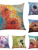 cheap -6 Pcs Linen Pillow Cover Creative Dandelion Linen Pillow Case Car Pillow Cushion Sofa Pillow Pillow Office Nap Pillow