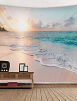 cheap -Beach Sunset Landscape Digital Printed Tapestry Decor Wall Art Tablecloths Bedspread Picnic Blanket Beach Throw Tapestries Colorful Bedroom Hall Dorm Living Room Hanging