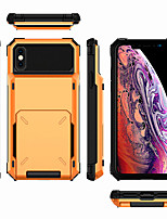 cheap -iPhone11Pro Max Flip Card Card Mecha Mobile Phone Shell XS Max Four Corners Drop-proof Can be Inserted 5 6 7 8Plus SE 2020 Protective Shell