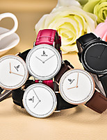 cheap -Women's Quartz Watches Minimalist Fashion Genuine Leather Chinese Quartz Golden+Black Black Blushing Pink Water Resistant / Waterproof 30 m 1 pc Analog One Year Battery Life