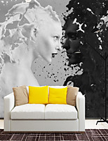 cheap -Custom Self-adhesive Mural Black and White Portrait is Suitable for Background Wall Coffee Shop Hotel Wall Decoration Art  Room Wallcovering