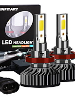 cheap -Infitary 2pcs H11 Motorcycle Car Light Bulbs LED Fog Lights 72W 8000LM 6500K for Universal Car