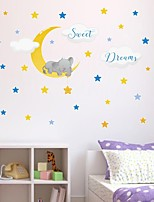 cheap -Animals Stars Wall Stickers Plane Wall Stickers Decorative Wall Stickers PVC Home Decoration Wall Decal Wall / Window Decoration 1pc