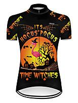 cheap -21Grams Women's Short Sleeve Cycling Jersey Nylon Polyester Black / Orange Flamingo Gradient Animal Bike Jersey Top Mountain Bike MTB Road Bike Cycling Breathable Quick Dry Ultraviolet Resistant