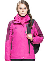 cheap -Wolfcavalry® Women's Hiking Jacket Winter Outdoor Patchwork Waterproof Windproof Fleece Lining Breathable Jacket Single Slider Hunting Fishing Climbing Purple / Red / Fuchsia / Warm
