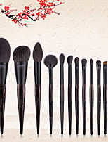 cheap -Professional Makeup Brushes 12pcs Professional Full Coverage Comfy Plastic for Blush Brush Foundation Brush Makeup Brush Eyeshadow Brush