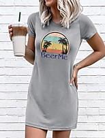 cheap -Women's Sheath Dress Short Mini Dress - Short Sleeves Geometric Summer Elegant 2020 Gray S M L XL XXL