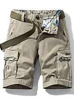 """cheap -Men's Hiking Shorts Hiking Cargo Shorts Summer Outdoor 10"""" Standard Fit Breathable Quick Dry Sweat-wicking Multi-Pocket Elastane Cotton Shorts Bottoms Camping / Hiking Hunting Fishing Dark Grey Army"""