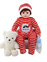 cheap -FeelWind 16 inch 24 inch Reborn Doll Baby & Toddler Toy Reborn Toddler Doll Baby Girl Gift Cute Lovely Parent-Child Interaction Tipped and Sealed Nails 3/4 Silicone Limbs and Cotton Filled Body LV069