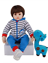 cheap -FeelWind 24 inch Reborn Doll Baby & Toddler Toy Reborn Toddler Doll Baby Boy Gift Cute Lovely Parent-Child Interaction Tipped and Sealed Nails 3/4 Silicone Limbs and Cotton Filled Body LV072 with