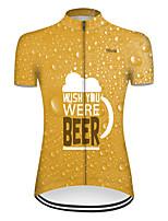 Недорогие -21Grams Жен. С короткими рукавами Велокофты Оранжевый Пиво Октоберфест Велоспорт Верхняя часть Горные велосипеды Шоссейные велосипеды Дышащий Виды спорта Одежда / Слабоэластичная