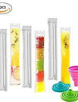 cheap -80pcs/Pack Plastic FDA Popsicles Molds Freezer Bags Ice Cream Pop Making Mould DIY Yogurt Summer Drinks Kids Hand Crafts