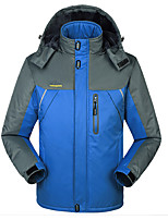 cheap -Wolfcavalry® Men's Hiking Jacket Winter Outdoor Patchwork Waterproof Windproof Fleece Lining Breathable Top Full Length Hidden Zipper Hunting Ski / Snowboard Fishing Black / Red / Army Green / Blue