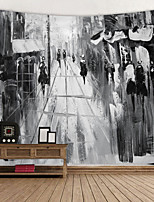 cheap -European and American Style ink Painting Digital Printed Tapestry Decor Wall Art Tablecloths Bedspread Picnic Blanket Beach Throw Tapestries Colorful Bedroom Hall Dorm Living Room Hanging