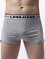 cheap -Men's Basic Boxers Underwear - Normal Mid Waist White Black Red S M L