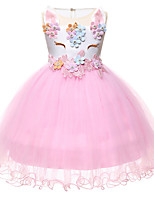 cheap -Princess Unicorn Outfits Flower Girl Dress Girls' Movie Cosplay A-Line Slip White / Purple / Pink Dress Children's Day Masquerade Polyester