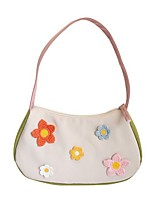 cheap -Women's Nylon Top Handle Bag Floral Print Black / Beige