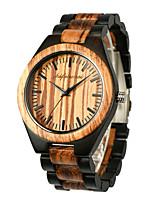 cheap -Men's Sport Watch Japanese Quartz Modern Style Stylish Wood Wooden Analog Fashion Cool - Black