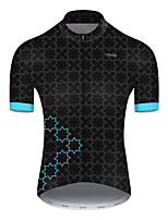 cheap -21Grams Men's Short Sleeve Cycling Jersey Nylon Polyester Black / Blue Plaid Checkered Patchwork Bike Jersey Top Mountain Bike MTB Road Bike Cycling Breathable Quick Dry Ultraviolet Resistant Sports