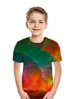 cheap -Kids Boys' Street chic 3D Short Sleeve Tee Green
