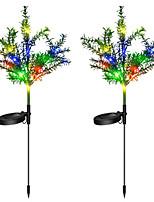 cheap -Garden Lights Outdoor Lights Simulation Christmas Tree Lights 15LED Colorful Garden Decoration Garden Landscape Lawn Lights 2PCS