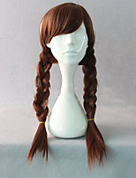 cheap -Synthetic Wig Cosplay Wig Elsa Anna Curly Cosplay Braid Wig Long Lake Blue Silver grey Brown Beige Blonde#18 Blue Synthetic Hair 28 inch Men's Cosplay Synthetic Blonde hairjoy