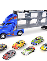 cheap -Carrier Truck Pull Back Car / Inertia Car Pull Back Vehicle Race Car Cargo Truck Simulation Plastic & Metal Mini Car Vehicles Toys for Party Favor or Kids Birthday Gift Includes 6pcs Toy Cars 1+6 pcs