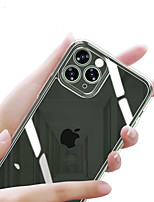 cheap -Case For iphone se 7 8 7plus 8plus xs xr xsmax 11 11pro 11promax   Shockproof Plating Mirror Back Cover Solid Colored TPU Tempered Glass