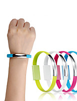cheap -Mini Short Flat Bracelet Micro USB 2.0 Sync Data Charger Cable for Android Phones Casual 2 in 1 Wristband Bracelet