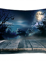 cheap -Black Cloud Moon Dead Tree Bat Classic Theme Wall Decor 100% Polyester Contemporary Wall Art Wall Tapestries Decoration