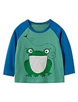 cheap -Kids Boys' Basic Animal Print Long Sleeve Tee Green