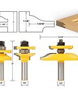 cheap -Shaker 3 Bit Cabinet Door Router Bit Set - 1/2 Shank
