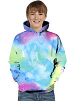 cheap -Kids Toddler Boys' Active Basic Geometric Color Block Print Long Sleeve Hoodie & Sweatshirt Blue