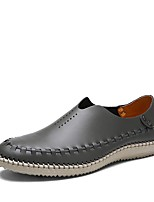cheap -Men's Summer Daily Loafers & Slip-Ons PU Brown / Dark Blue / Gray
