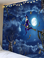 cheap -Tapestry halloween broom witch ghost home decoration wall hanging quilt big tablecloth party decoration