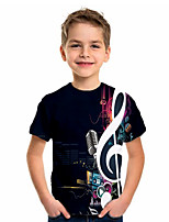 cheap -Kids Boys' Basic Holiday Geometric Print Short Sleeve Tee Black