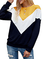 cheap -Women's Sweatshirt Color Block Casual Hoodies Sweatshirts  Loose Wine Yellow Army Green
