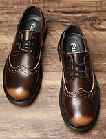 cheap -Men's Summer Business / Casual / British Party & Evening Office & Career Oxfords Walking Shoes Cowhide Breathable Non-slipping Black / Brown Gradient