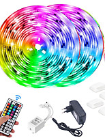 cheap -LED Strip Light (2*5M)10M 32.8ft 2835 RGB 600leds 8mm Strips Lighting Flexible Color Changing with 44 Key IR Remote Ideal for Home Kitchen Christmas TV Back Lights DC 12V and 12V 3A Power Supply