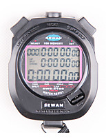 cheap -SEWEAN Stopwatch SW8-3100 Digital Chronograph 1/100 Second Sports Stop Watch Counter Timer 3 Row 100 Memories Lap Split