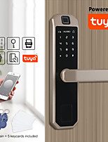 cheap -LITBest Zinc Alloy Fingerprint Lock / Intelligent Lock Smart Home Security System Fingerprint unlocking / Password unlocking Household / Home / Apartment Security Door / Copper Door (Unlocking Mode