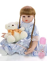 cheap -KEIUMI 24 inch Reborn Doll Baby & Toddler Toy Reborn Toddler Doll Baby Girl Gift Cute Lovely Parent-Child Interaction Tipped and Sealed Nails Half Silicone and Cloth Body with Clothes and Accessories