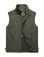 cheap -Men's Hiking Vest / Gilet Summer Outdoor Windproof Breathable Quick Dry Top Camping / Hiking Hunting Fishing Black / Army Green / Khaki / Dark Blue