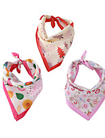 cheap -Dog Cat Bandanas & Hats Dog Bandana Dog Bibs Scarf Floral Botanical Casual / Sporty Cute Party Sports Dog Clothes Adjustable Purple Red Pink Costume Cotton